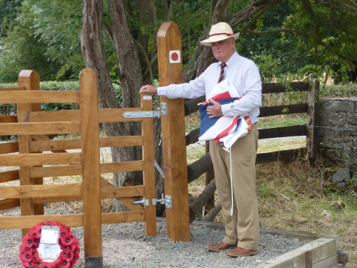 Lt Col Bob Carruthers opens the gate