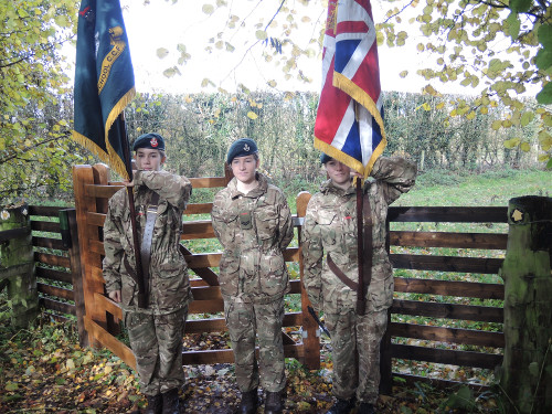 Private Thomas Cook opening – Cadets are from Lucton School and a section was included in visitors attending